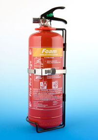 2 ltr AFFF foam with transport bracket