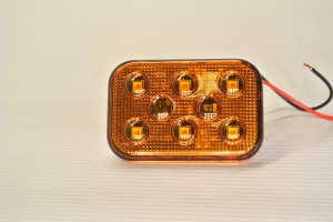Dual Voltage Strobing Amber Light Superslim Self Adhesive