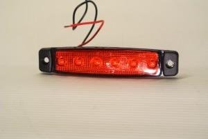 Step Light Marker Light 6 LED Red Superslim
