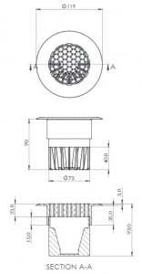 Floor Vent technical drawing